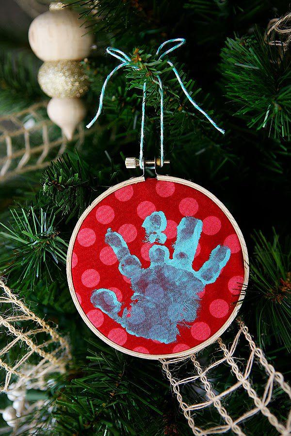 Simple handprint crafts for kids baby handprint ornament solutioingenieria Images