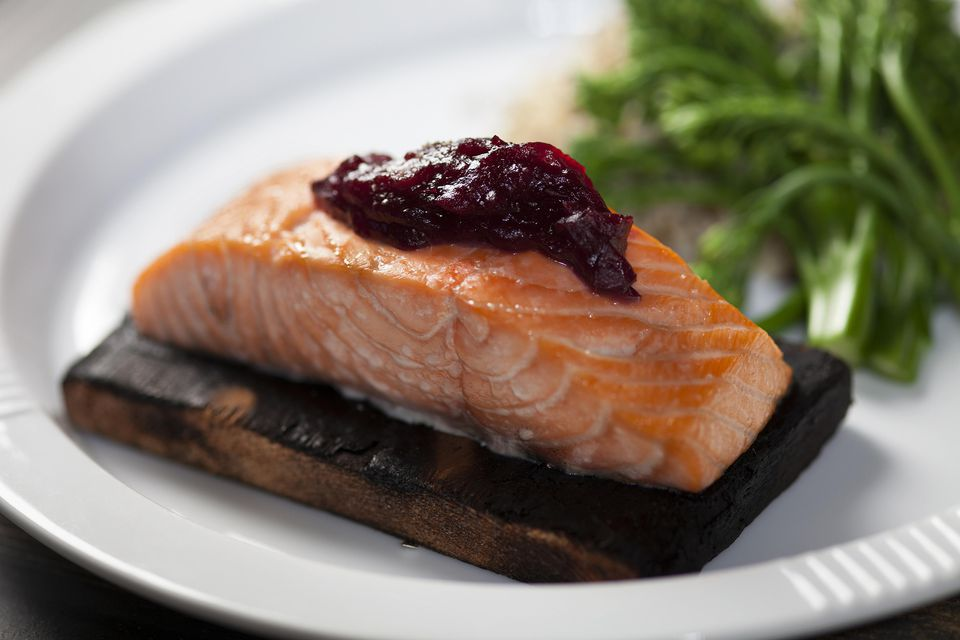Salmon with Cranberry Sauce