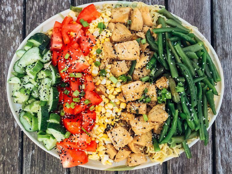 Veggies and tofu