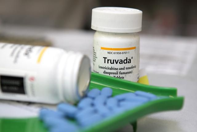 107091581.jpg SAN ANSELMO, CA - NOVEMBER 23: Bottles of antiretroviral drug Truvada are displayed at Jack's Pharmacy on November 23, 2010 in San Anselmo, California. A study published by the New England Journal of Medicine showed that men who took the daily antiretroviral pill Truvada significantly reduced their risk of contracting HIV. (Photo Illustration by Justin Sullivan/Getty Images)