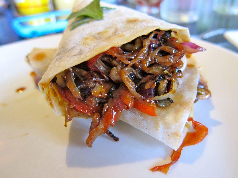 Mu Shu Pork Burrito