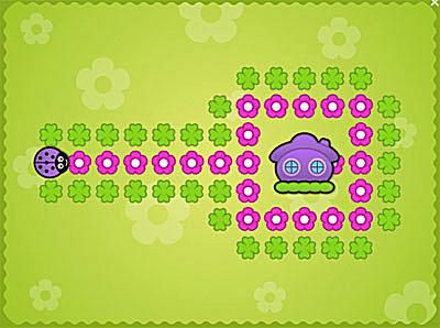 A screenshot of Ladybugs Maze.