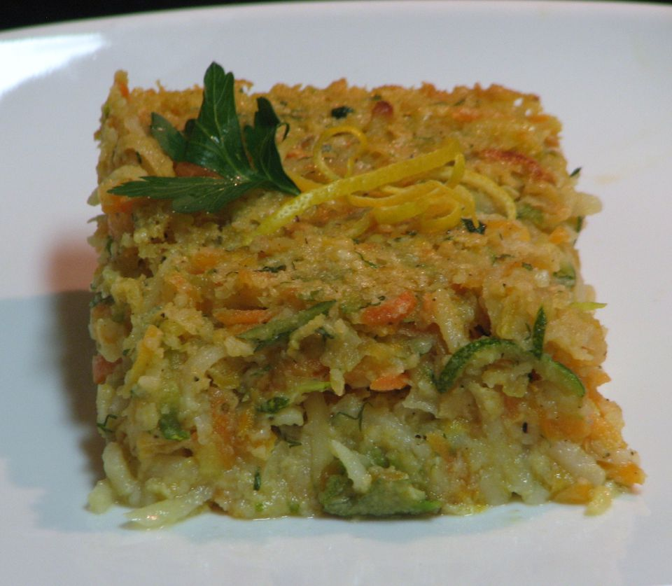 Potato and carrot vegetarian kugel