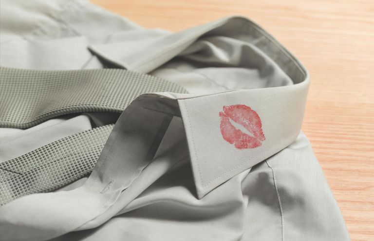 Lipstick on collar