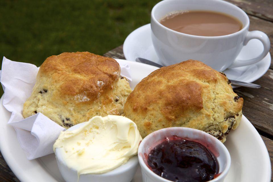 A Cornish cream tea