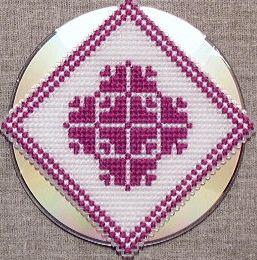 Transform a CD with Cross Stitch