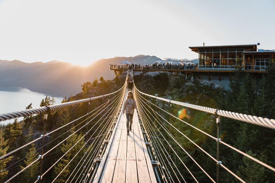 Sky Pilot Suspension Bridge at Sea to Sky Gondola, BC