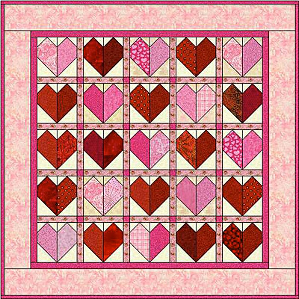 Patchwork Heart Quilt Pattern