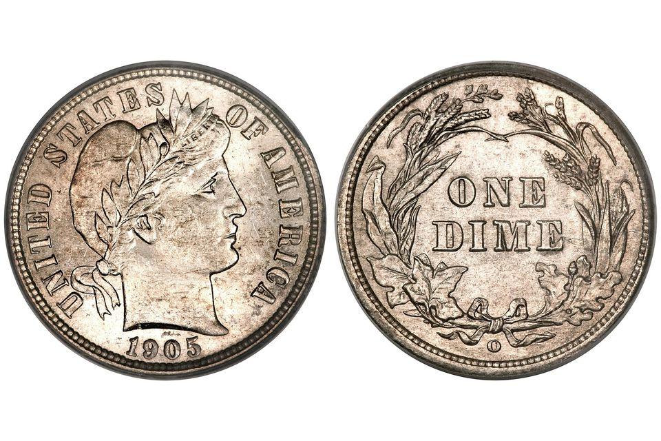 1895-O U.S. Barber Dime Graded MS-63
