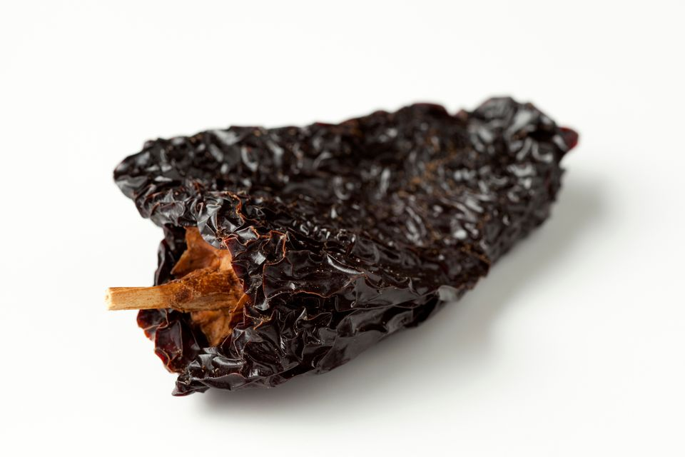 Ancho chiles are the dried version of poblano peppers