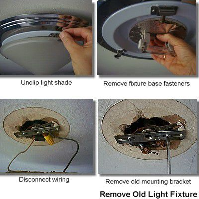 How to replace a ceiling light fixture remove existing ceiling light fixture mozeypictures Image collections