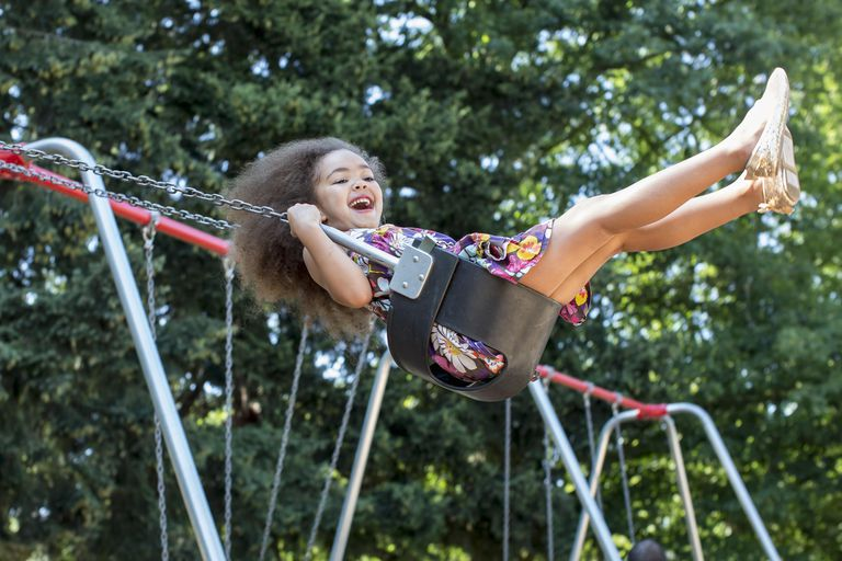 teach your child to pump a swing