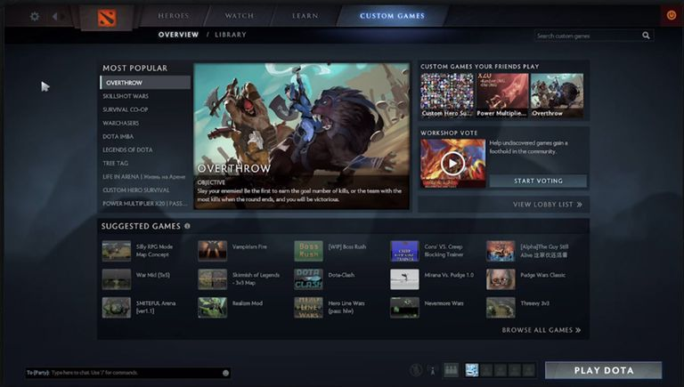 Screenshot from Dota 2 Custom Games