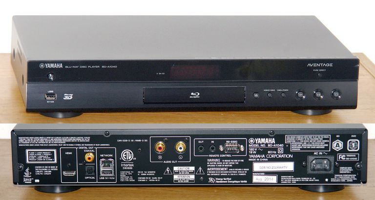 yamaha aventage bd a1040 blu ray disc player photos. Black Bedroom Furniture Sets. Home Design Ideas