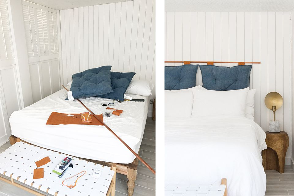 Copper Pipe And Pillow Diy Headboard