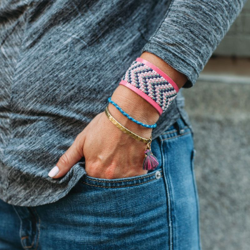 Faux Leather Stitchable Cuff