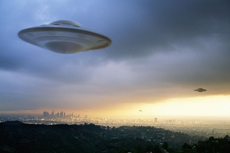 UFO over a city