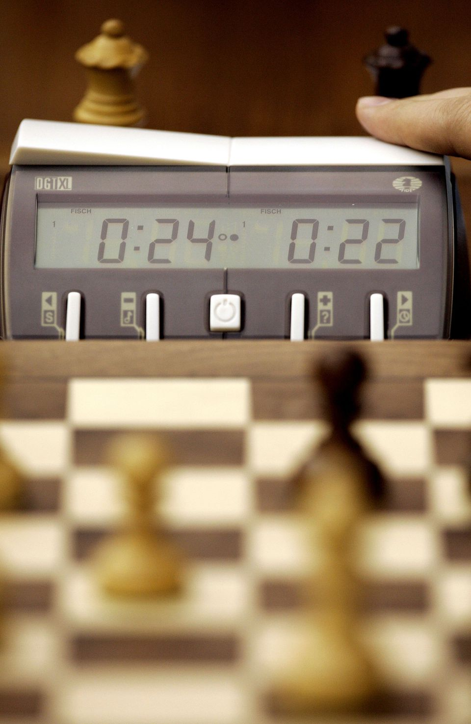 Chess board and timer