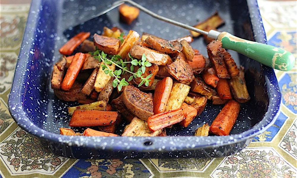 Sweet and Tangy roasted vegetables