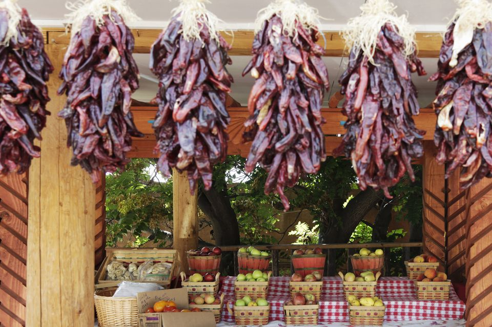 Dried Chiles and Fruit in New Mexico
