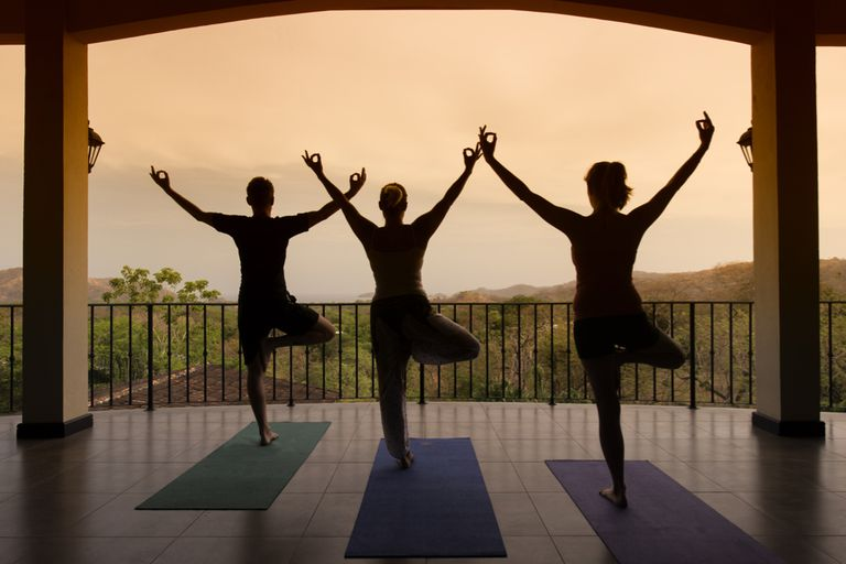 Guests at Villa Buena Onda hotel in Costa Rica like yoga at dawn and sunset