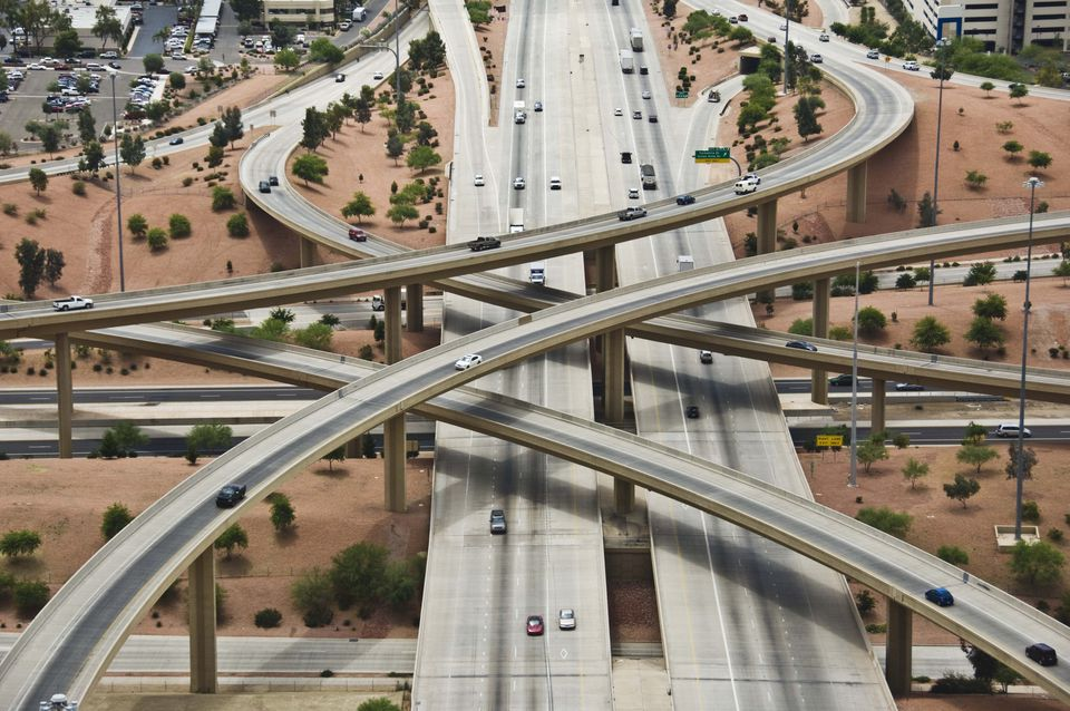 Pima Freeway and Black Canyon Freeway, Phoenix, Arizona
