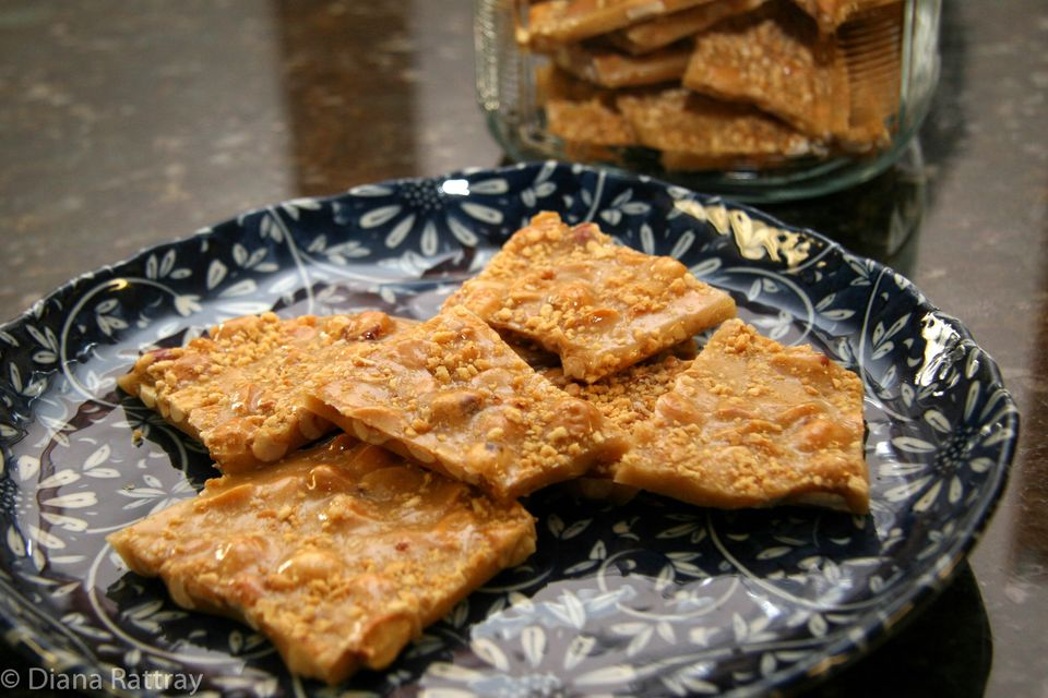 Peanut Brittle With Honey Roasted Peanuts