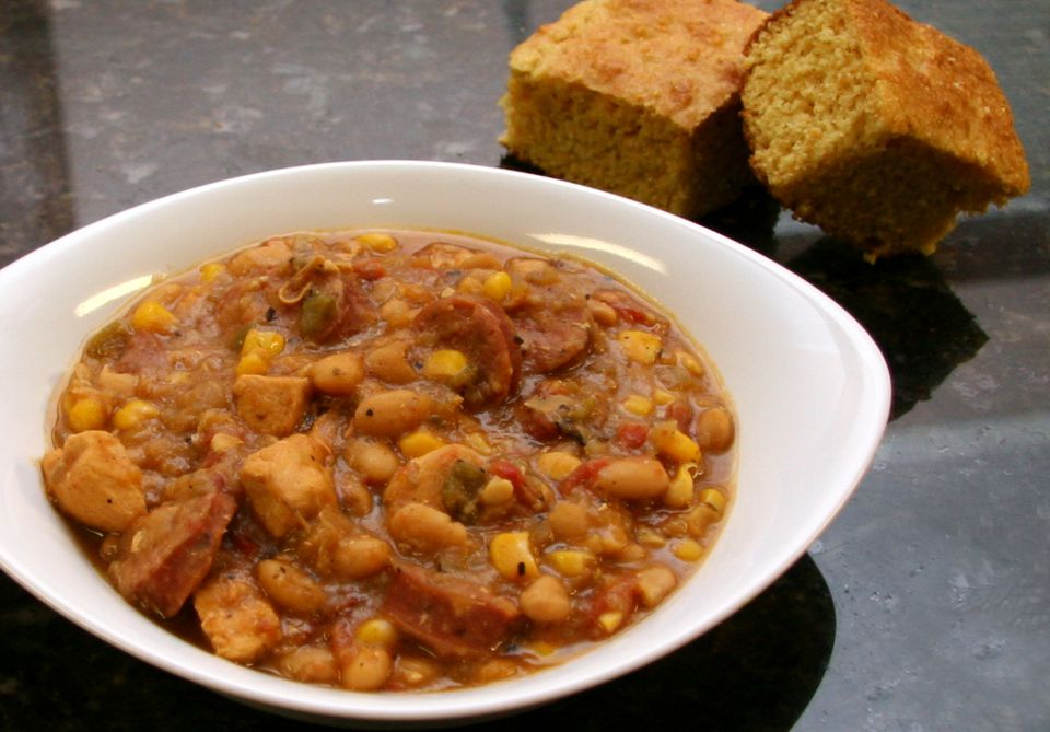 Chicken, Sausage, and White Bean Chili