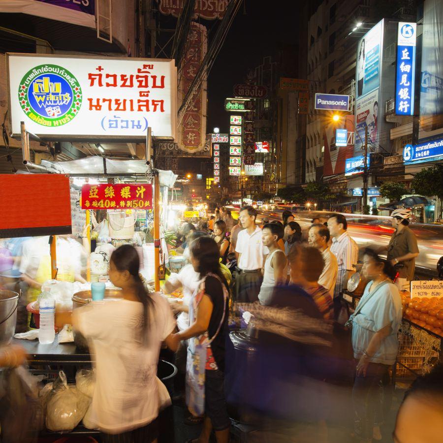 China Town street food stalls, Bangkok, Thailand.