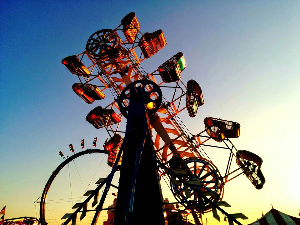 Low Angle View Of Ride At Amusement Park
