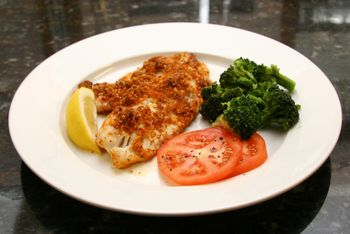 Baked Tilapia With Spicy Cajun Bread Crumb Topping
