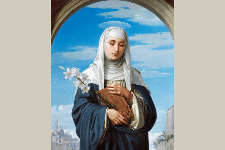 St Catherine of Siena, 1888, by Alessandro Franchi