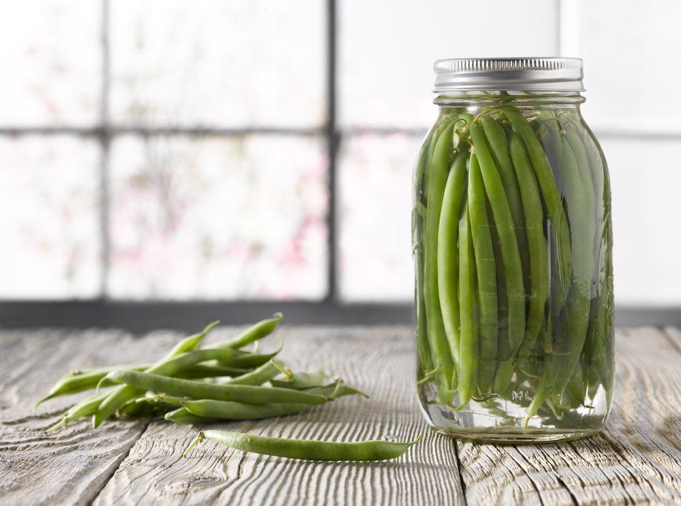 Jar of Green Bean Pickles