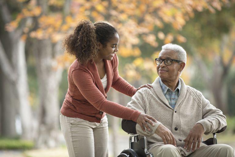 Caregiver and grandfather