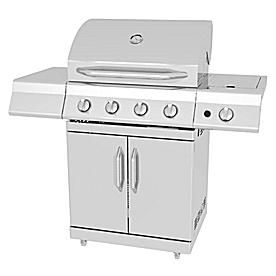 Master Forge 4-Burner Silver Gas Grill Model# 2518-3