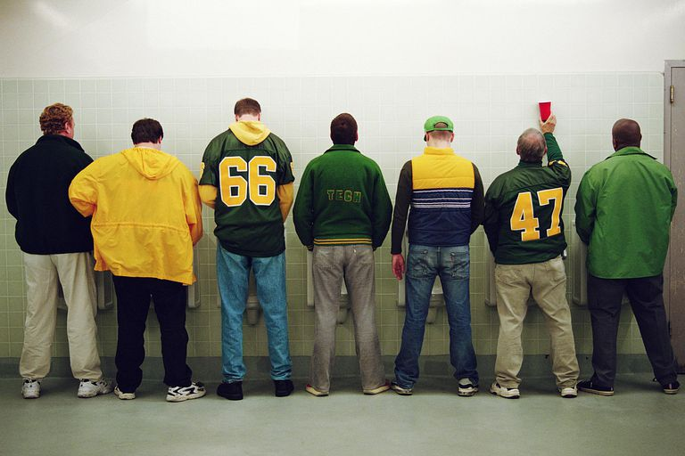 Men at urinals