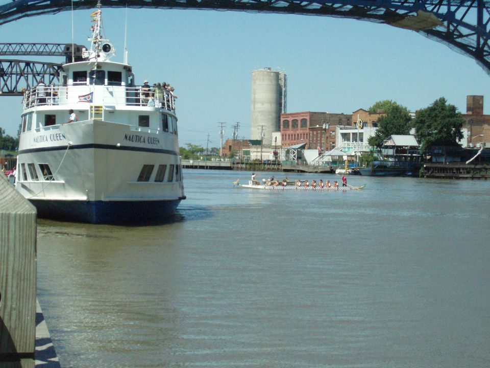 The Nautica Queen on the river.