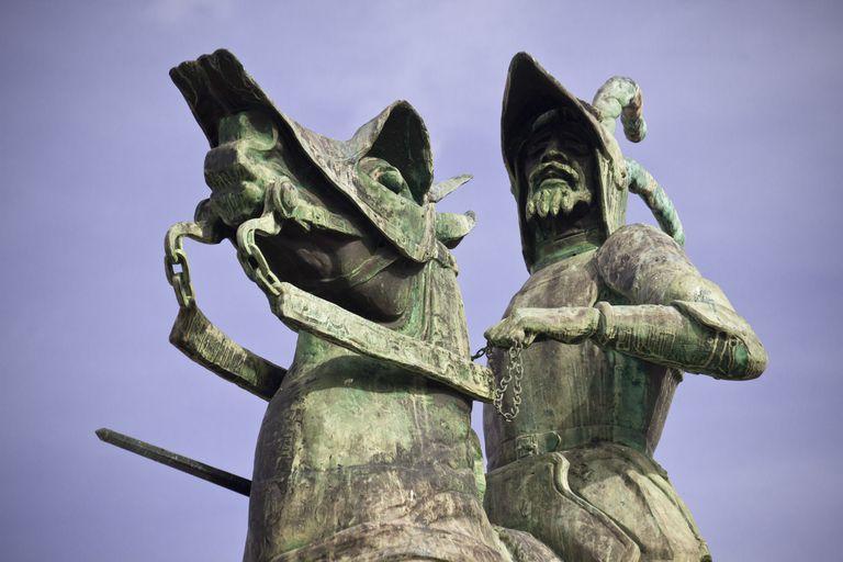 Spain, Extremadura Region, Trujillo City, Pizarro Statue