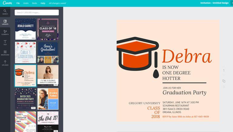 33 free, printable graduation invitations templates, Powerpoint templates