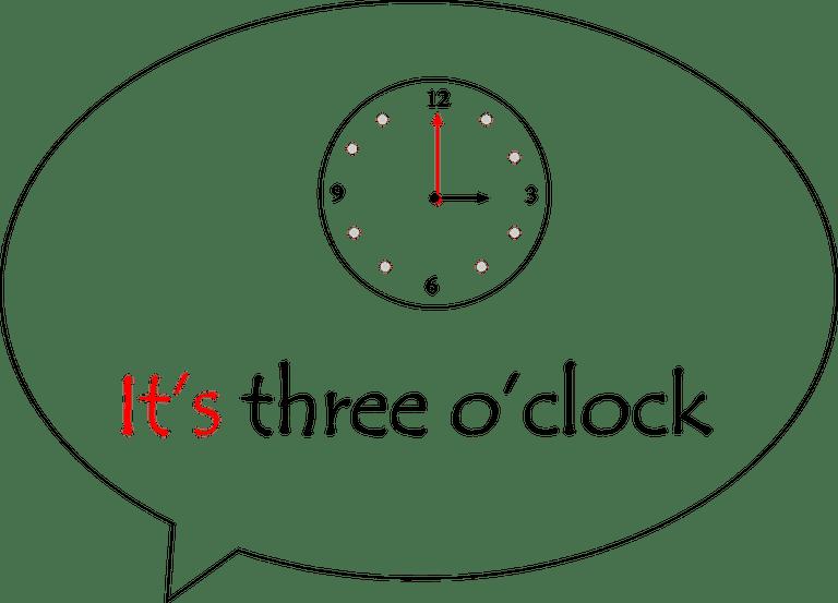 It's three o'clock