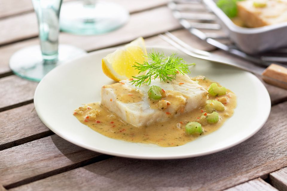 Fish Fillets with Mustard Sauce