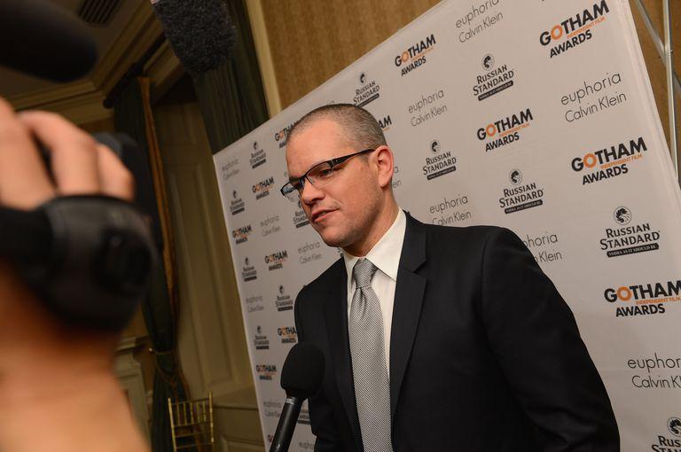 Matt Damon with a shaved head