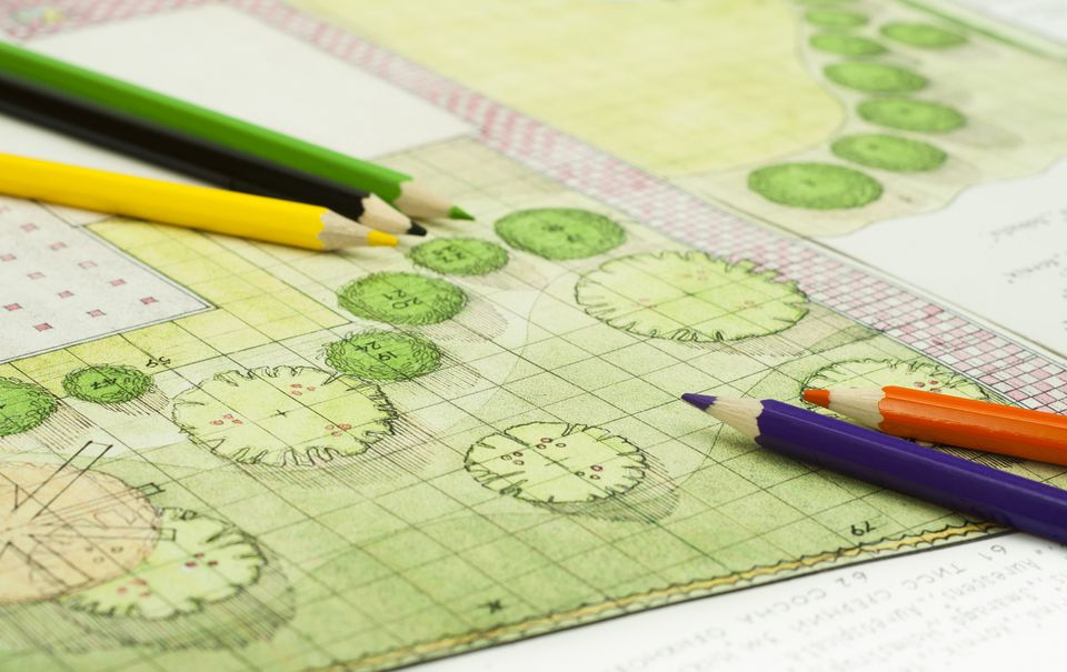 Image: landscape plan drawing.
