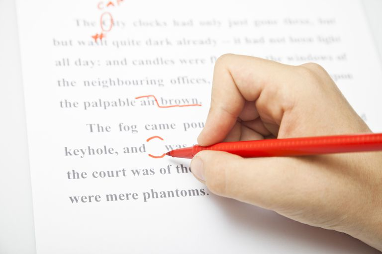 editing with red pen