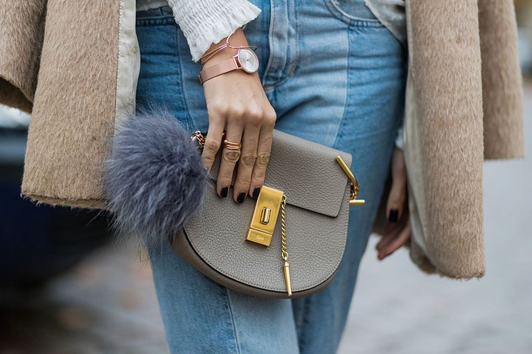 Two tone jeans street style outfit