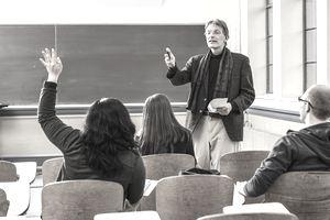 professor taking question