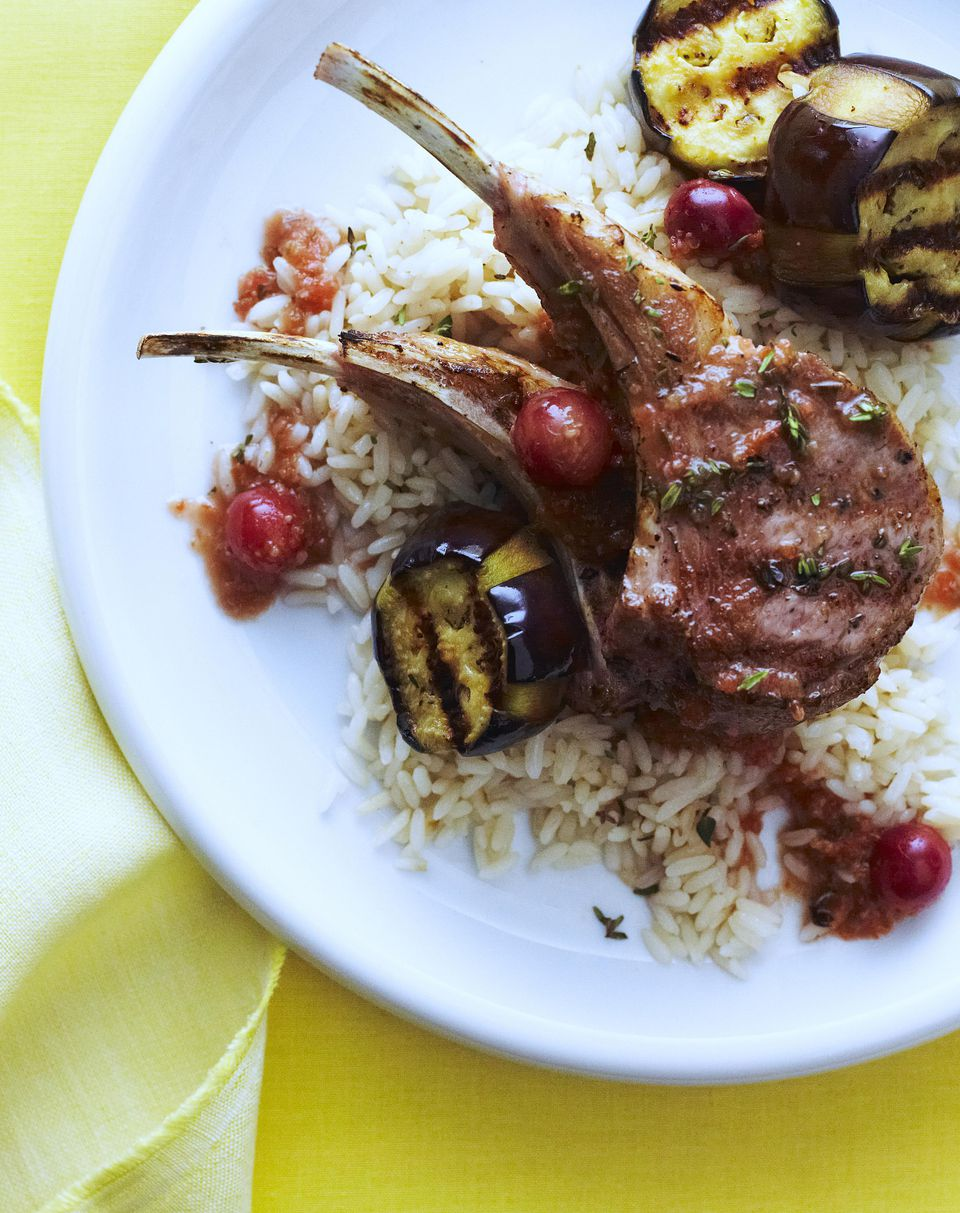 Ginger and Red Wine Lamb Chops