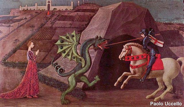 Paolo Uccello, Saint George and the Dragon, around 1470.