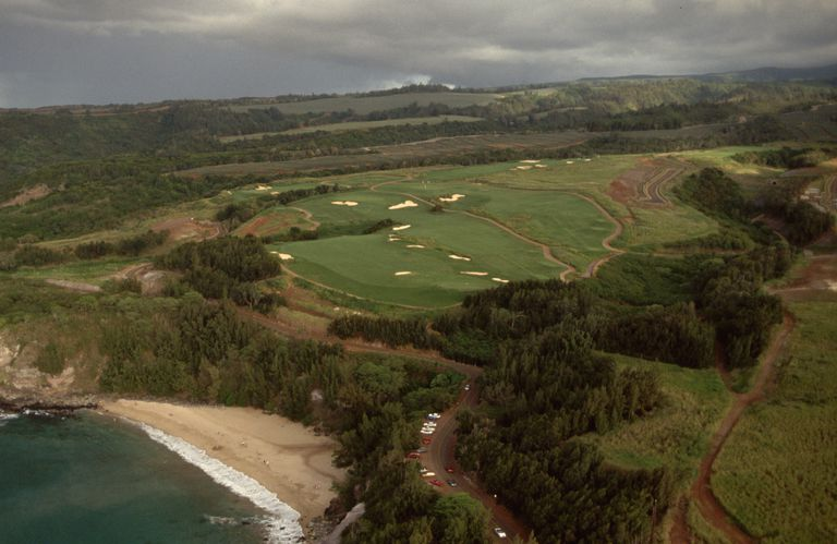 Back Nine of Kapalua Plantation Golf Course in Hawaii