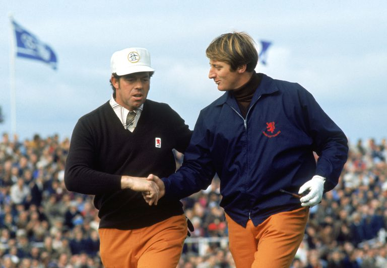 Peter Butler and Brian Barnes at the 1973 Ryder Cup